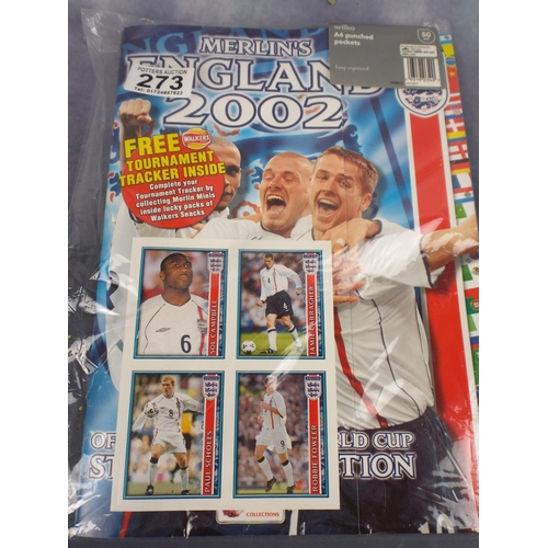 273 - England 2002 Sticker album...