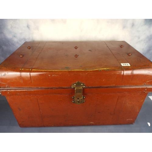 282 - Large tin trunk C1930...