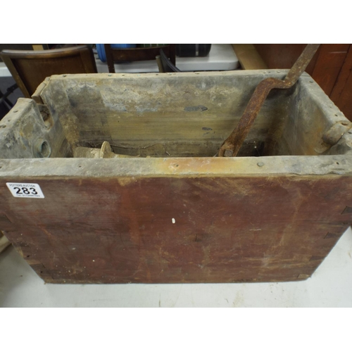 283 - Victorian Lead Lined Toilet systern with wooden surround...