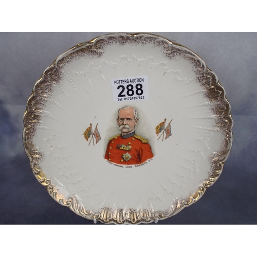 288 - Vintage collectable plate featuring Lord Roberts VC...