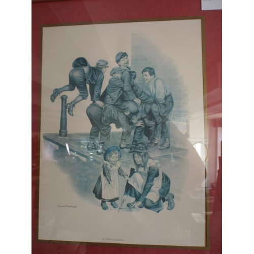 298 - Two framed and mounted prints of victorian children...