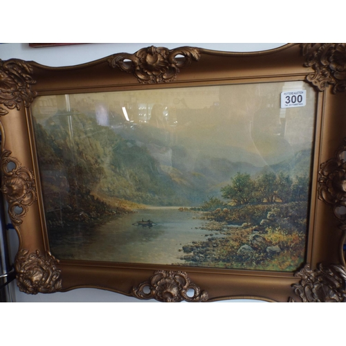 300 - Framed lithograph by Roy Gregory in gilt frame measuring 24 inches X 17...