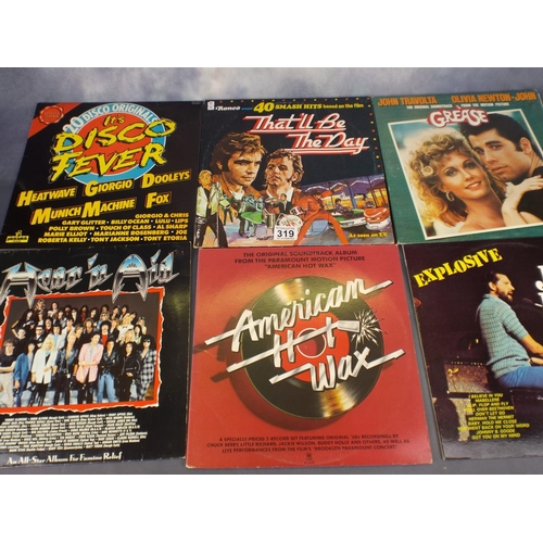 319 - Large tray of Vinyl rock & Pop LP's...