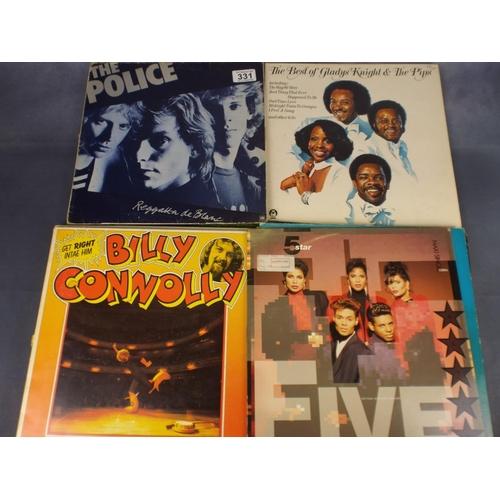 331 - Eighteen vinyl Lp's rock & pop...