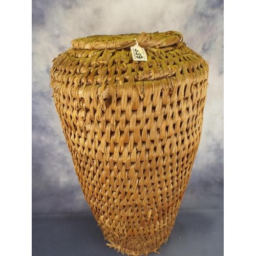 339 - Old rush Alibarba laundrey basket...