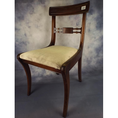 343 - Two parlour chairs, upholstered...