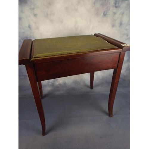 346 - Folding top piano seat...