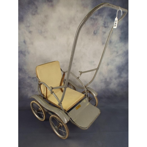 348 - Vintage dolls pushchair by Allwin, c1940's/50's...