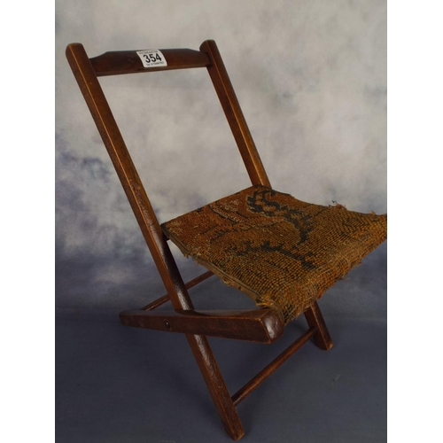 354 - Small vintage folding dolls chair...