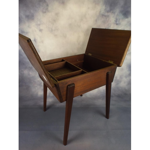 361 - Small sewing or craft table with hinged lid...