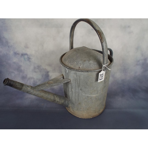 373 - Galvanised steel watering can...