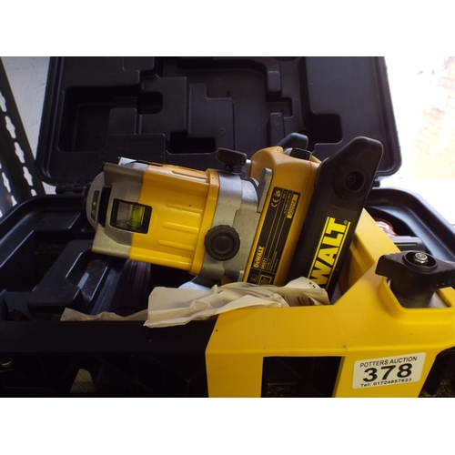 378 - Dewalt lazer level , barely used , with original case...