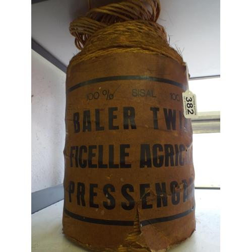 382 - Vintage roll of baler twine, original package...