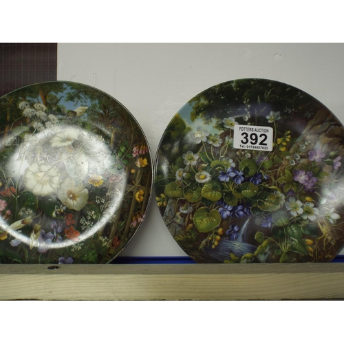392 - Four Furstenberg floral display plates...
