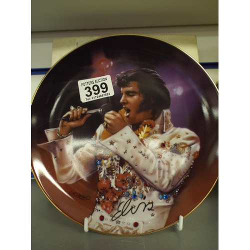 399 - Bradford exchange Elvis plate with original box...