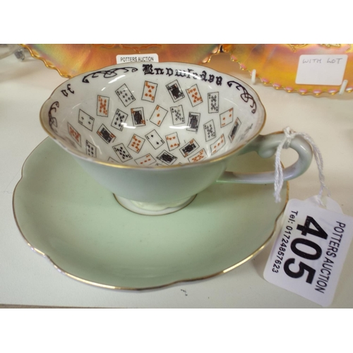 405 - Gypsey fortune telling tea leaf cup...