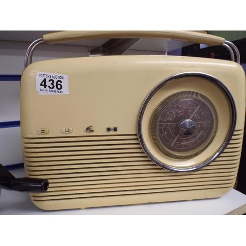 436 - Vintage Bush transistor radio...