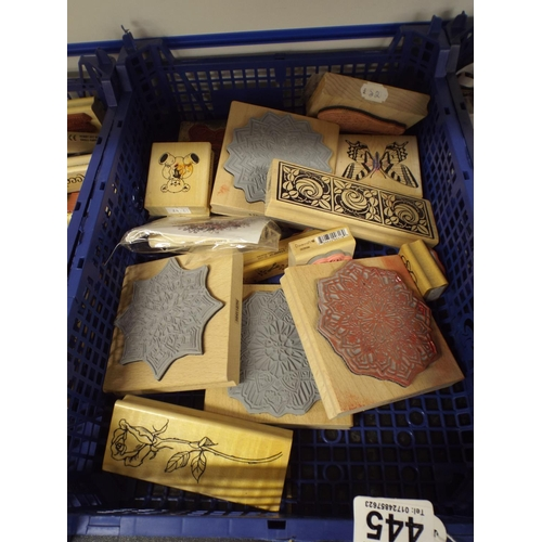 445 - Tray of as new craft stamps...