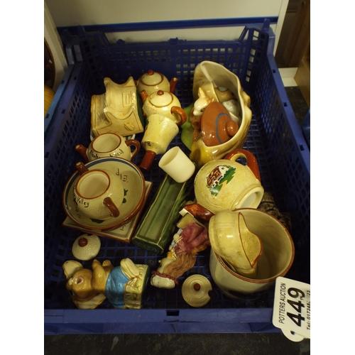 449 - Tray of assorted ceramics...