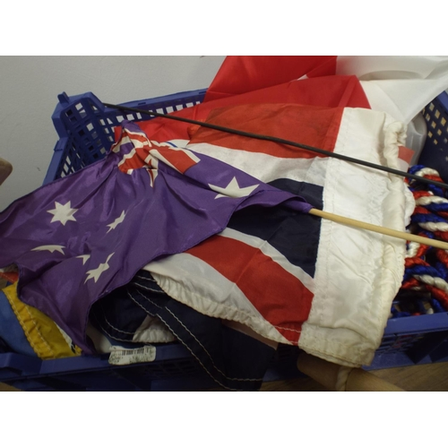 468 - Tray of flags & pennants...