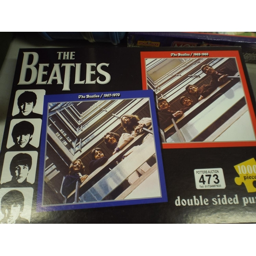 473 - 1000 piece Beatles Jigsaw puzzle, Double sided...