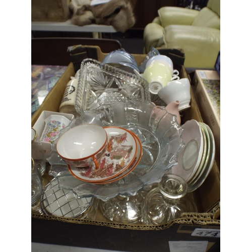 474 - Large box of assorted glass & Ceramics...