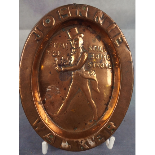 216 - Original Copper Johnnie Walker ashtray...