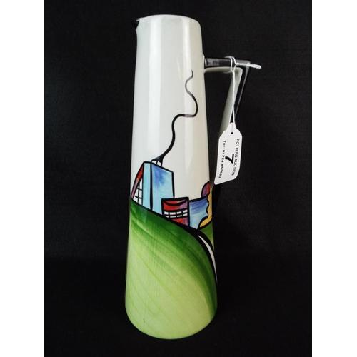 7 - Lorna Bailey 'Deco House' Vase  9 inches tall....