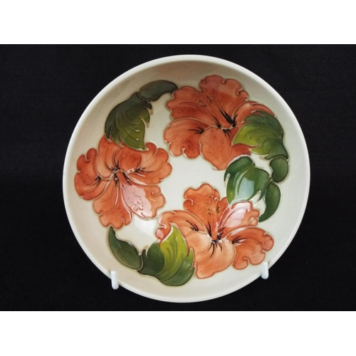 Moorcroft bowl in the Hibiscus pattern  6 inches in diameter