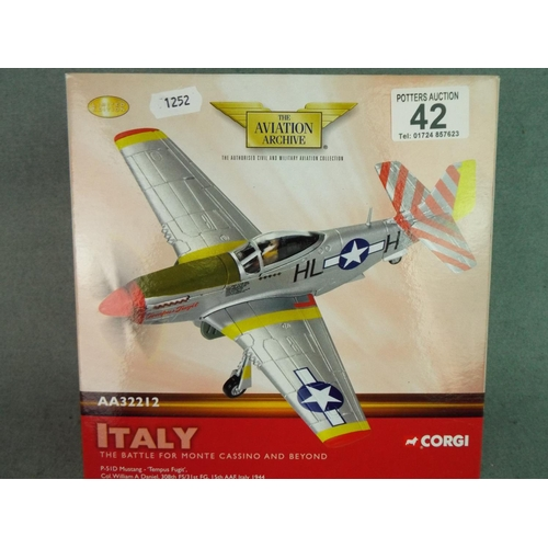 42 - Corgi 1:72 scale die cast P51 D Mustang. Boxed and unused....