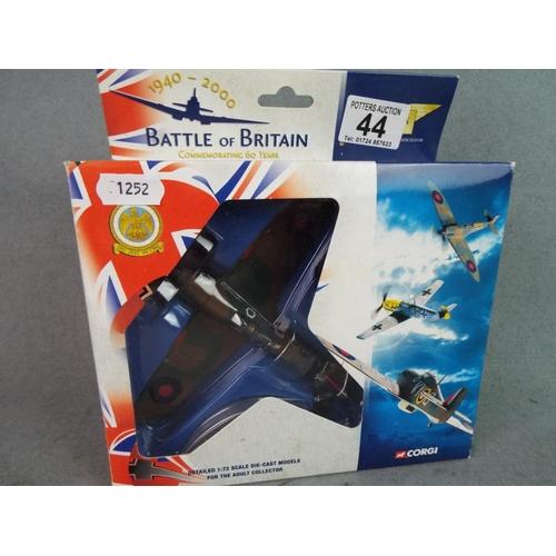 44 - 1:72 Scale die cast Hurricane Mk 1  85 squadron RAF. Boxed and unused....