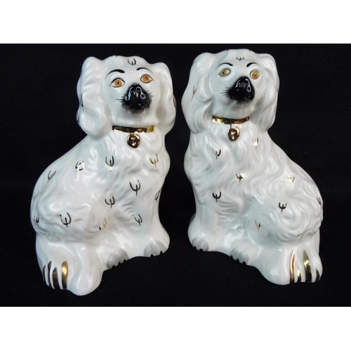 33 - Pair of Royal Doulton Staffordshire style wall spaniels. 1378-6....