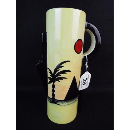 39 - Lorna Bailey Pyramid jug vase....