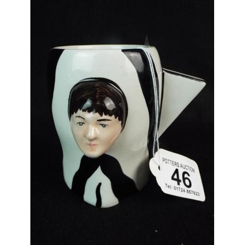 46 - Lorna Bailey Beatles mug with Paul & Johns faces....