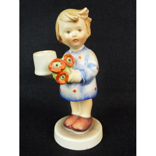 6 - Small Hummell figurine. 'Candle Girl' 115    3.5 inches tall....