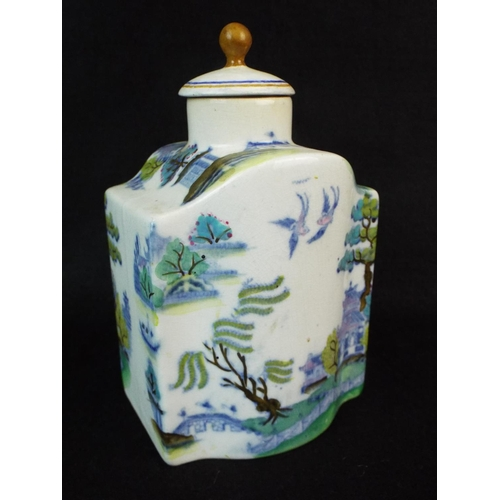 7 - Nankin chinese caddy with original lid.  6 inches tall....