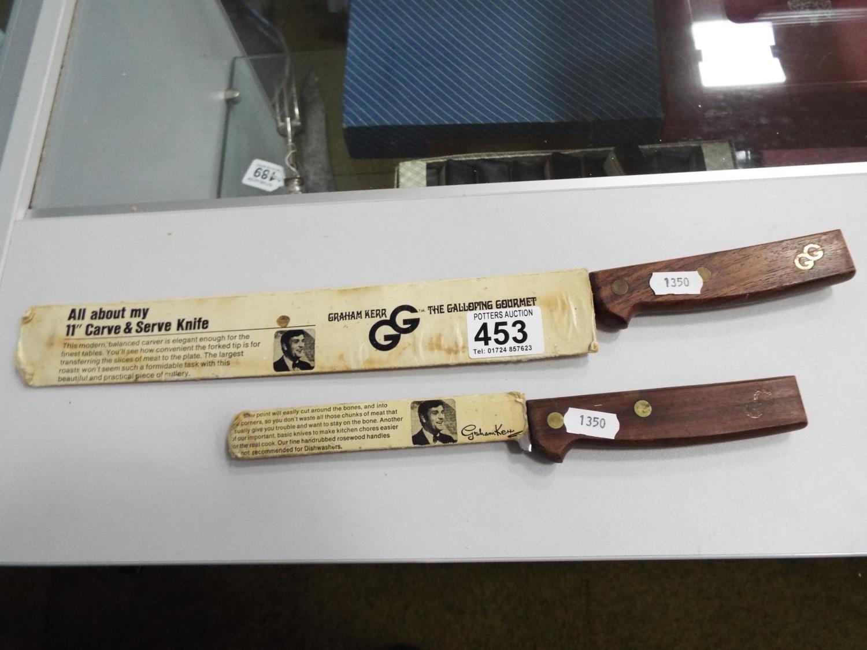 Pair of as new Graham Kerr Galloping Gourmet kitchen knives
