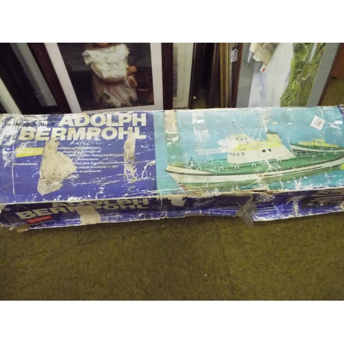 11 - Boxed scale model of a seaboat  'Adolph Bermphol' Believed to be complete with tatty box. 48 inches ...