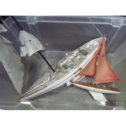 25 - Large pond yatch needing new sails plus one smaller...