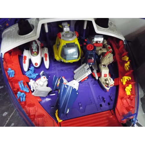46 - Manta force battle fortress, space ships and figures etc...