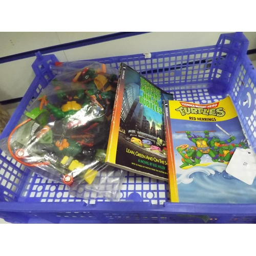 50 - Selection of Teenage Mutant Ninja Hero Turtles plus booklets...