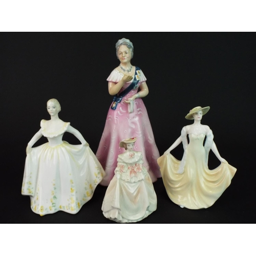 11 - Ltd Edition, Royal Doulton figurine of the Queen Mum HN2882 (1980) with repair to hand together with...