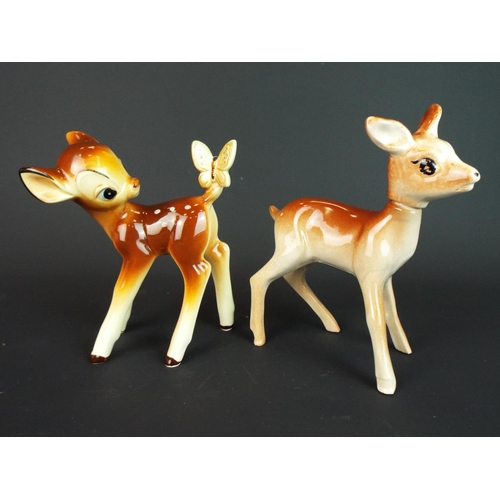 2 - Japanese made Walt Disney Bambi plus fawn scent flask. Both approx 6 inches tall.