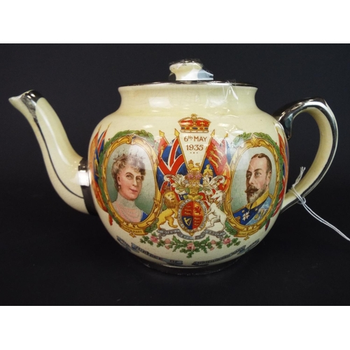 26 - English made teapot made to commemorate the Jubilee of George Vth & Queen Mary, 1935