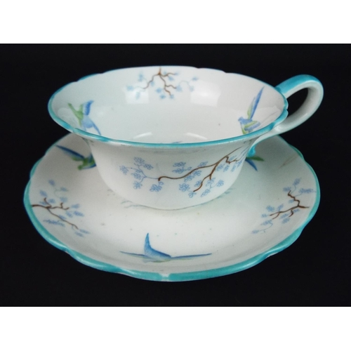 36 - Pretty cabinet cup and saucer by Grosvenor china in the Old English pattern.
