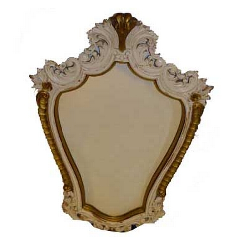31 - A Painted and Gilted Wall Mirror...
