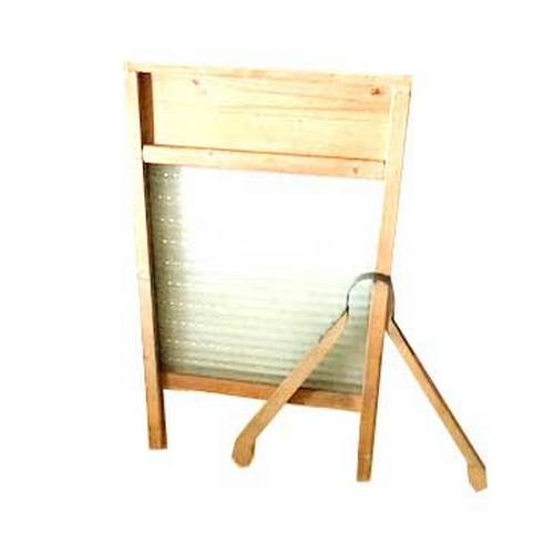 34 - An Old Washboard and a Set of Clothes Tongs...