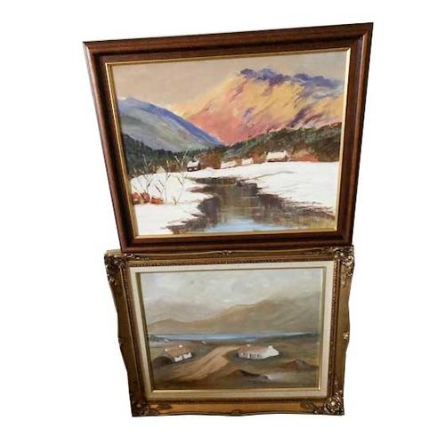 35 - Two Oil Paintings - Stewart...