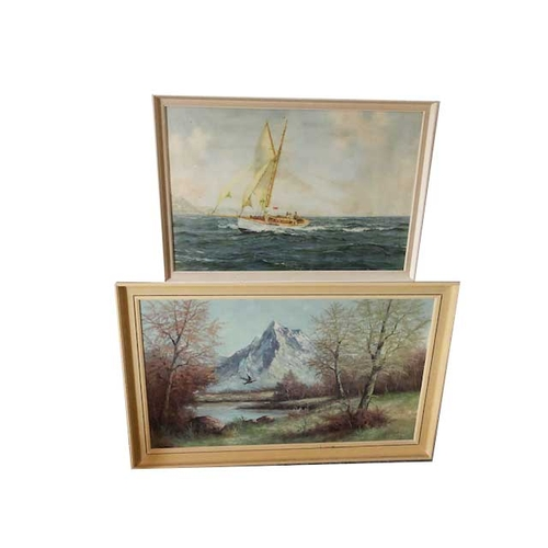 36 - Two Large Framed Pictures...