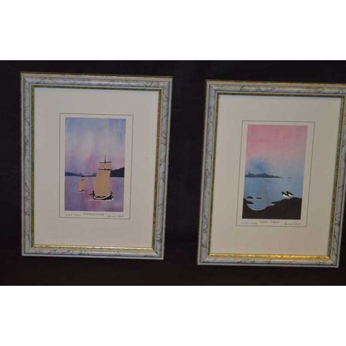 56 - Two Small Framed and Signed Prints...
